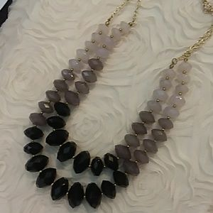 3/$20 Black & Grays beads statement necklace